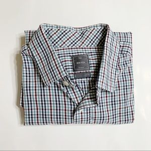 Gap Non-Iron Long Sleeve Button Down Plaid Shirt L